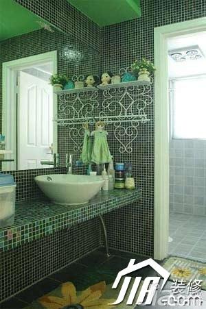 混搭风格小户型富裕型60平米卫生间洗手台图片