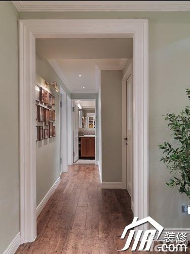 美式乡村风格公寓富裕型90平米走廊效果图
