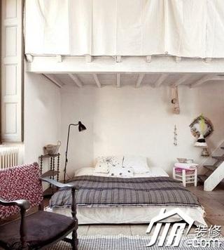 欧式风格小户型简洁3万-5万50平米卧室床效果图
