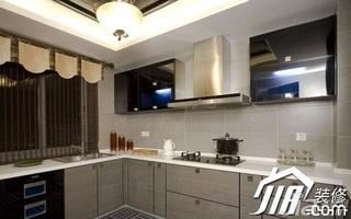中式风格公寓白色经济型120平米厨房橱柜安装图