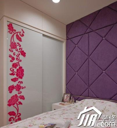 简约风格小户型经济型床头软包衣柜图片
