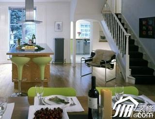 混搭风格小户型小清新富裕型70平米餐厅吧台餐桌效果图