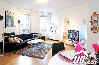 小户型60平米客厅沙发效果图