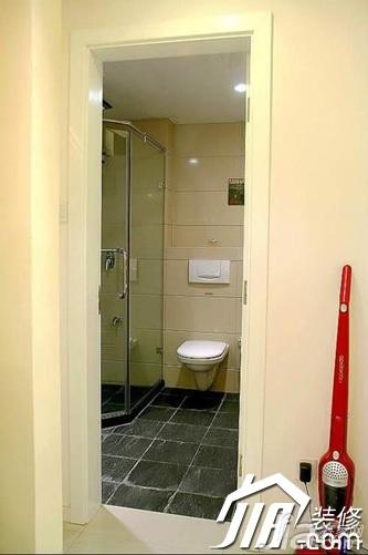 简约风格小户型富裕型90平米卫生间设计图