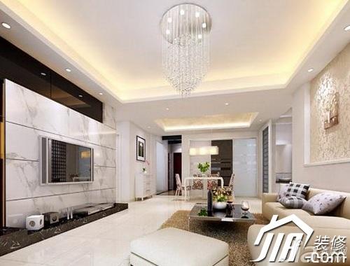 简约风格公寓简洁3万-5万80平米客厅电视背景墙沙发效果图
