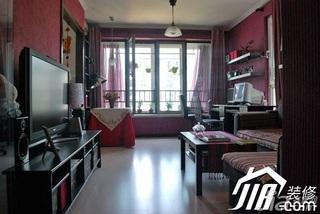 新古典风格小户型富裕型50平米客厅沙发效果图