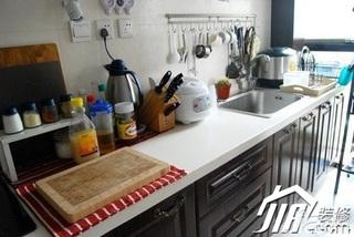 新古典风格小户型富裕型50平米厨房效果图
