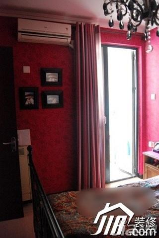 新古典风格小户型富裕型50平米卧室卧室背景墙床效果图