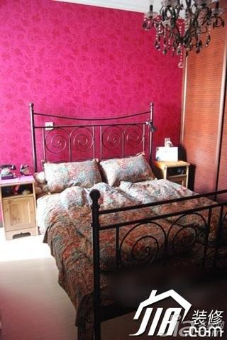 新古典风格小户型富裕型50平米卧室床效果图