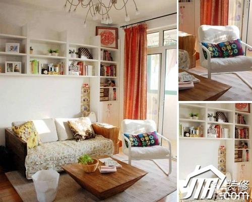 混搭风格小户型经济型70平米客厅沙发背景墙沙发图片