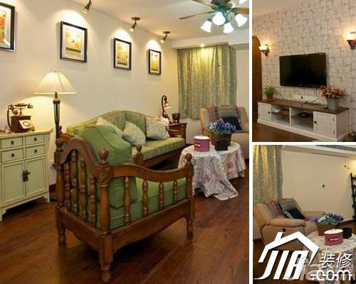 混搭风格小户型经济型70平米客厅窗帘图片