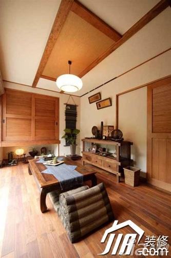 东南亚风格公寓富裕型90平米餐厅吊顶灯具图片