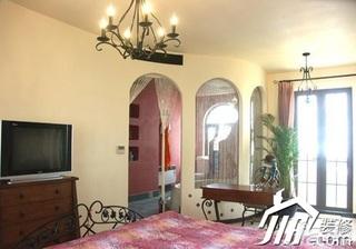 地中海风格别墅富裕型餐厅餐边柜效果图