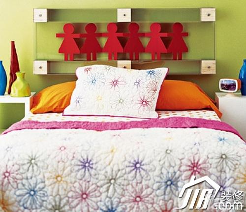 简约风格小户型可爱3万-5万80平米卧室卧室背景墙床图片