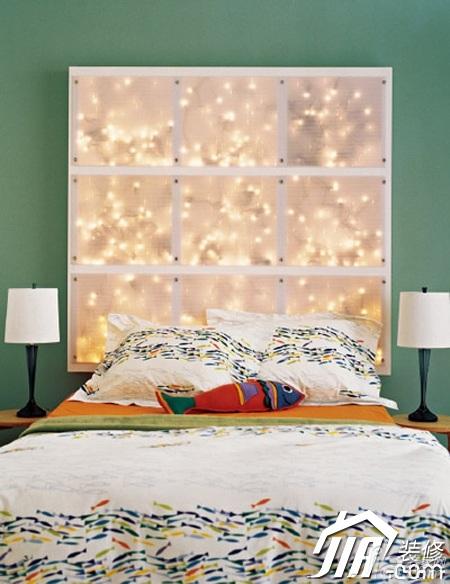 简约风格小户型浪漫3万-5万80平米卧室背景墙床图片
