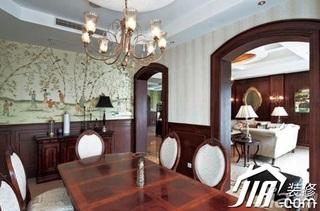 混搭风格别墅大气富裕型餐厅餐边柜效果图