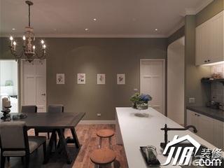 欧式风格三居室富裕型100平米餐厅餐边柜效果图