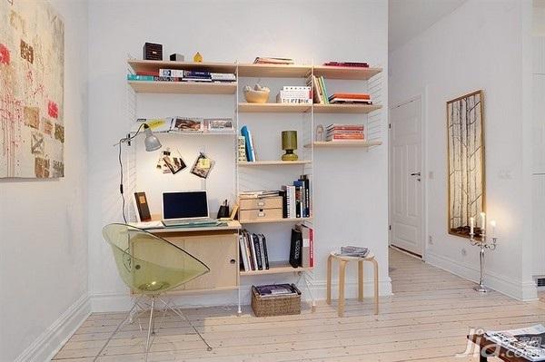 28个北欧风小户型家庭工作室书桌设计9/28