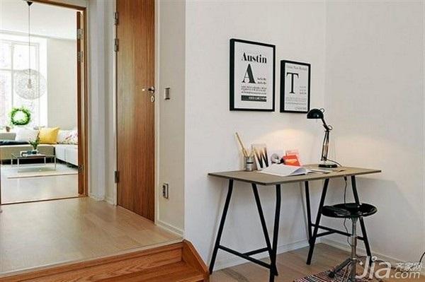 28个北欧风小户型家庭工作室书桌设计10/28