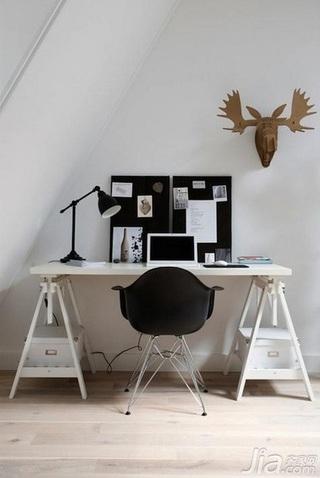 28个北欧风小户型家庭工作室书桌设计11/28