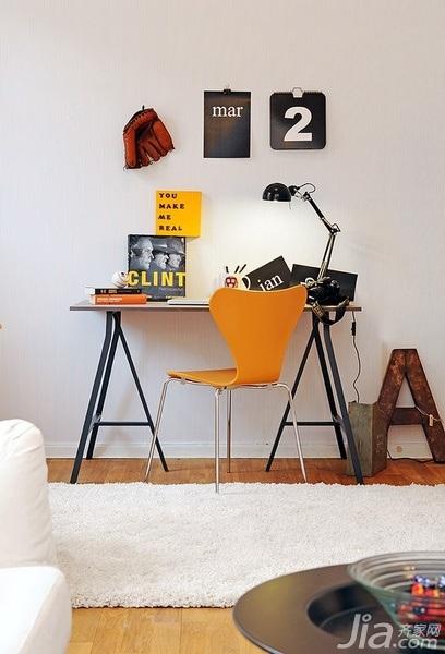 28个北欧风小户型家庭工作室书桌设计12/28