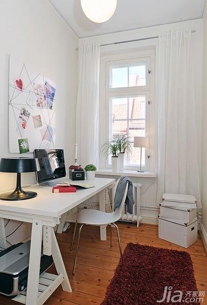 28个北欧风小户型家庭工作室书桌设计18/28