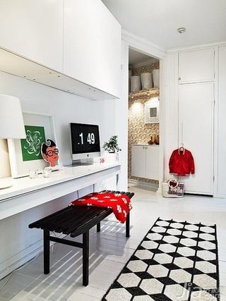 28个北欧风小户型家庭工作室书桌设计20/28