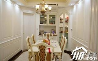 欧式风格三居室豪华型120平米餐厅餐桌效果图