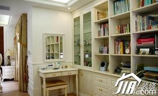 欧式风格三居室豪华型120平米书架图片