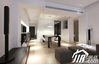 简约风格公寓大气黑色富裕型100平米客厅沙发效果图