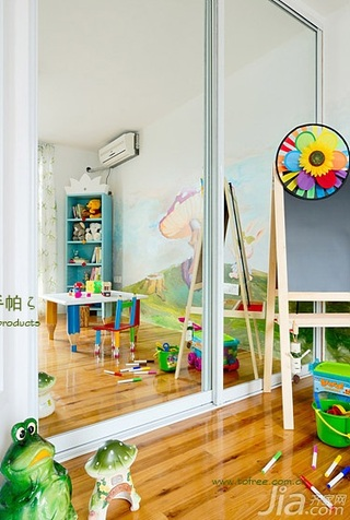 鬼手帕田园风格三居室富裕型地板效果图