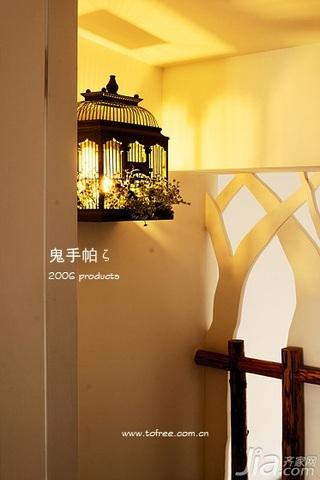 鬼手帕田园风格三居室富裕型灯具效果图