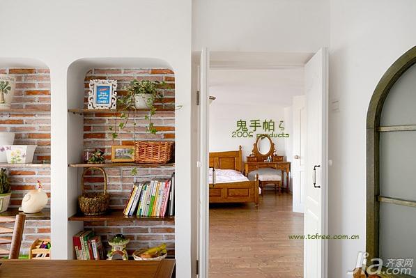 鬼手帕田园风格三居室简洁富裕型书房书架效果图