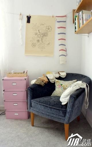 新古典风格二居室富裕型80平米单人沙发图片