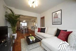 日式风格公寓富裕型90平米客厅沙发效果图
