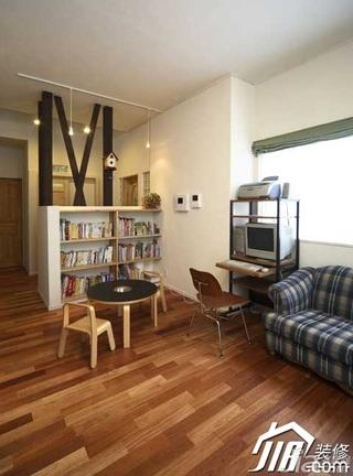 欧式风格公寓富裕型80平米书柜效果图