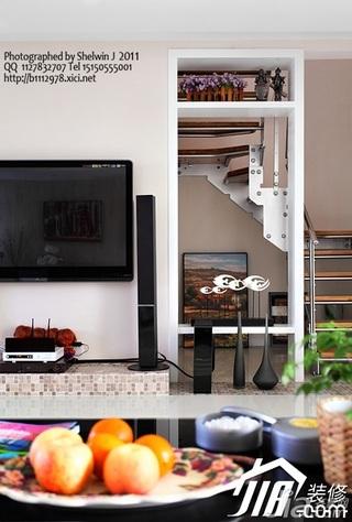 简约风格别墅富裕型客厅电视柜图片