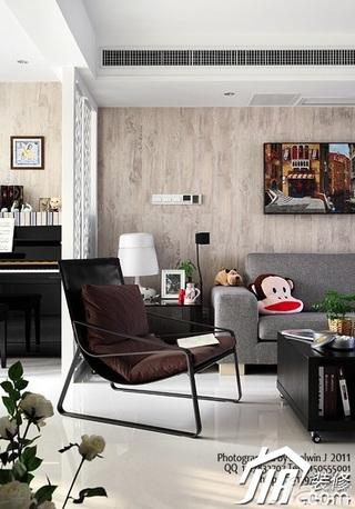 简约风格别墅富裕型客厅隔断沙发效果图