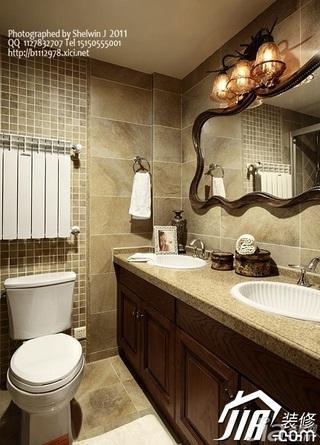 别墅大气豪华型浴室柜效果图