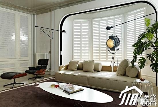 简约风格130平米客厅沙发效果图