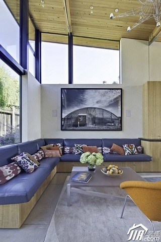 别墅富裕型客厅沙发图片