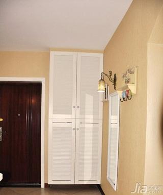 田园风格二居室富裕型80平米玄关玄关柜效果图