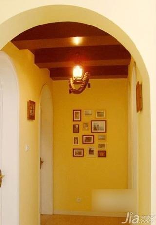 田园风格公寓经济型80平米玄关照片墙灯具效果图