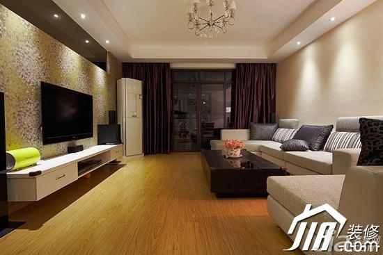 田园风格公寓经济型80平米装修图片