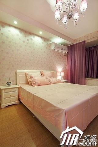 简约风格二居室舒适3万-5万90平米卧室壁纸效果图