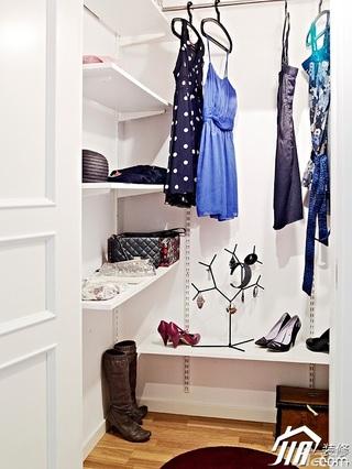 欧式风格一居室80平米衣帽间装修效果图