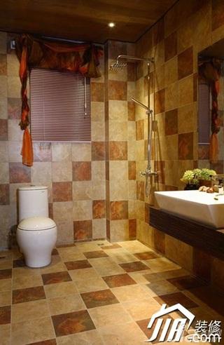 欧式风格公寓白色经济型浴室柜效果图