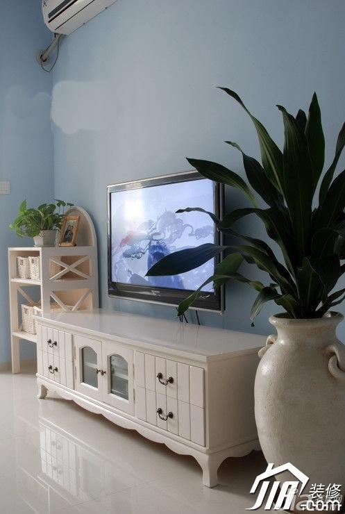田园风格富裕型90平米电视柜图片