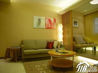 混搭风格二居室90平米客厅客厅隔断沙发效果图