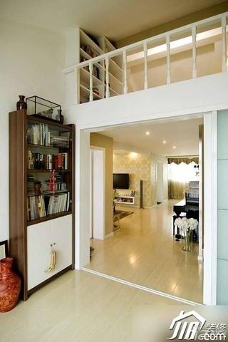 简约风格公寓经济型走廊书柜效果图